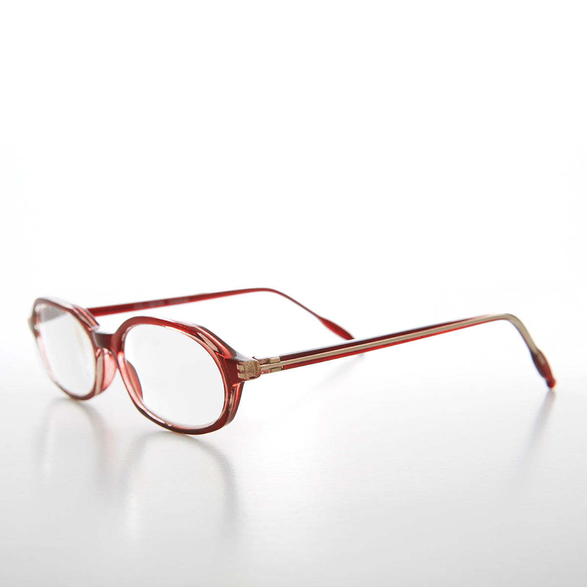 Red Rounded Rectangular Reading Glasses