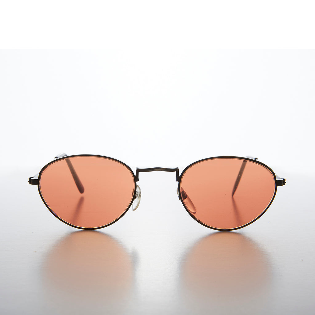 Copper Colored Lens Oval 90s Vintage Sunglass