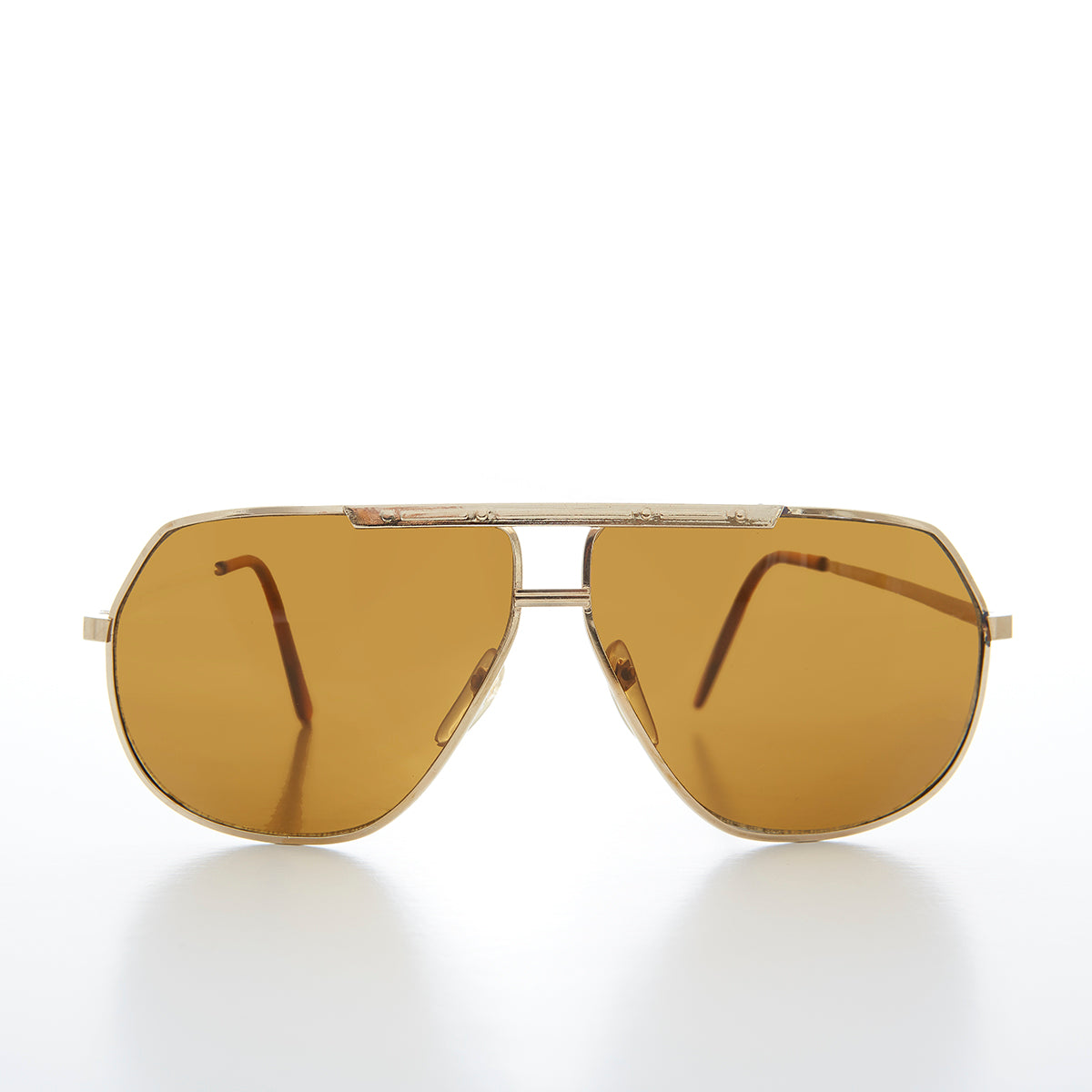 Large Gold Square Aviator Vintage Sunglass