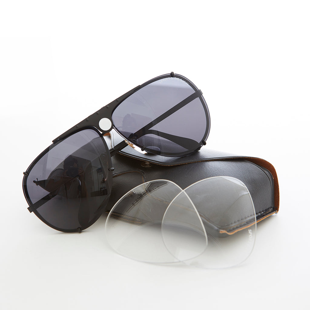 Aviator Sunglass with Interchangeable Clear Lens