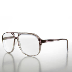 Clear Lens Optical Quality Plastic Vintage Aviator Glasses
