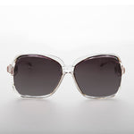 Load image into Gallery viewer, 1980s oversized square clear frame women's vintage sunglass