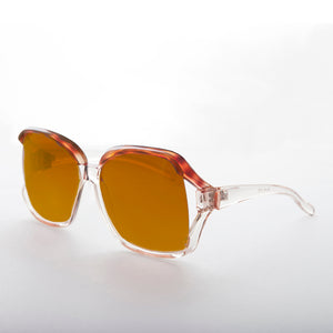 Oversized Square Clear Frame Vintage Sunglass