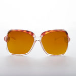 Load image into Gallery viewer, Oversized Square Clear Frame Vintage Sunglass