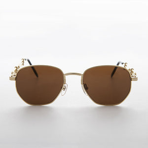 square metal steampunk 90s vintage sunglass