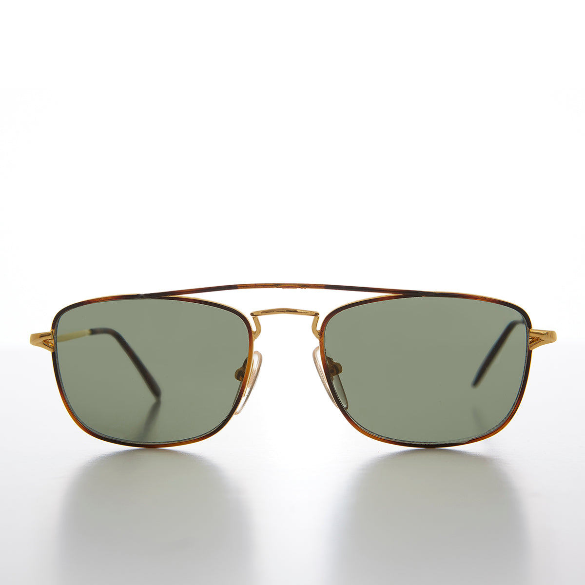 Gold Square Vintage Aviator Sunglass