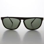 Flat Top Aviator Vintage Sunglass with Glass Lens - Jamen