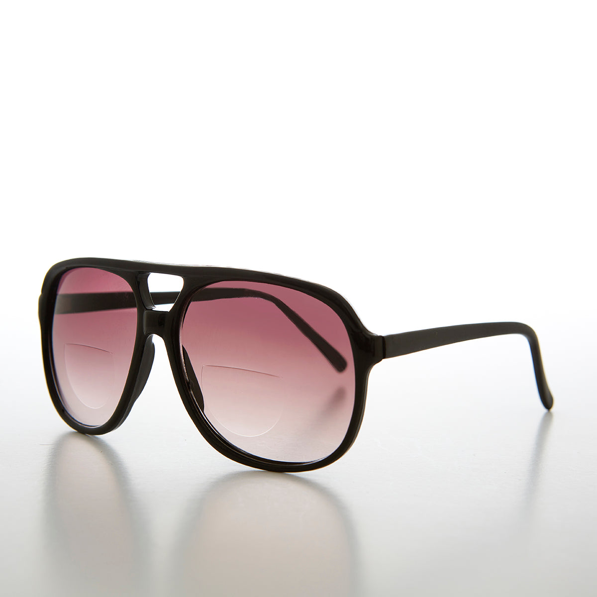 Large Bifocal Aviator Sunglass Reader