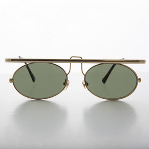 oval lens metal steampunk sunglass