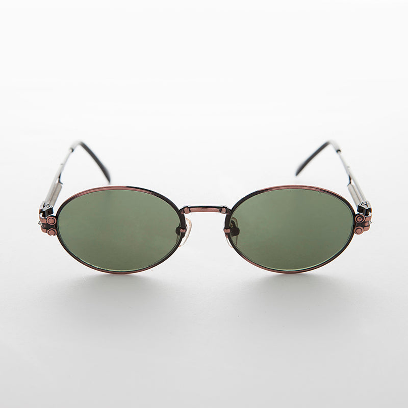 Spring Temple Oval Steampunk Vintage Sunglass
