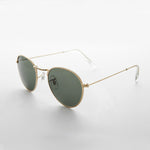 Load image into Gallery viewer, round glass lens gold frame classic vintage sunglass