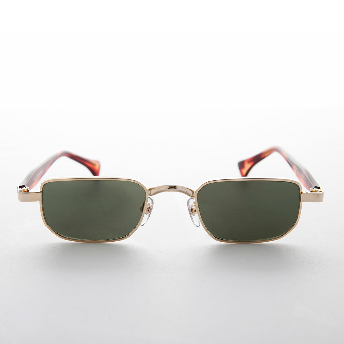 Wide Skinny Rectangular Vintage Optical Quality Sunglass