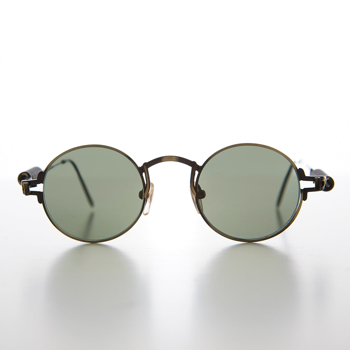 Coil Temple Round Metal Steampunk Vintage Sunglass