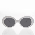 Load image into Gallery viewer, white kurt cobain oval cat eye sunglass