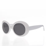 Load image into Gallery viewer, Kurt Cobain White Cat Eye Oval Clout Sunglasses - Kurtis