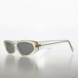 Edgy Rectangular Iridescent Vintage 90s Sunglass