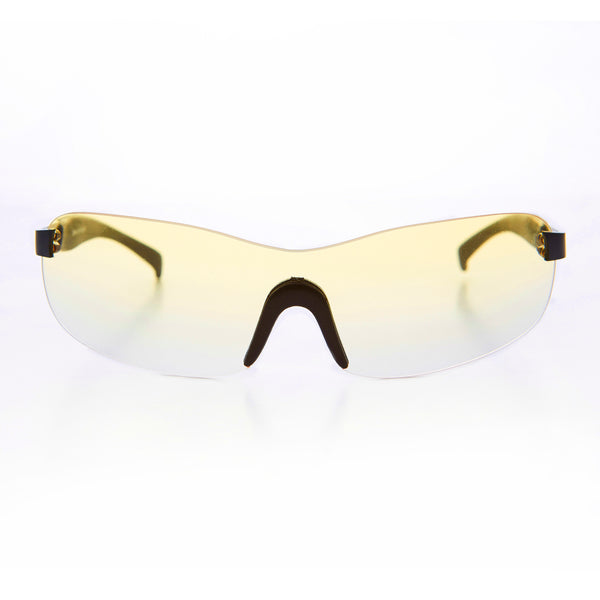 yellow gradient lens shield vintage 1990s sunglass