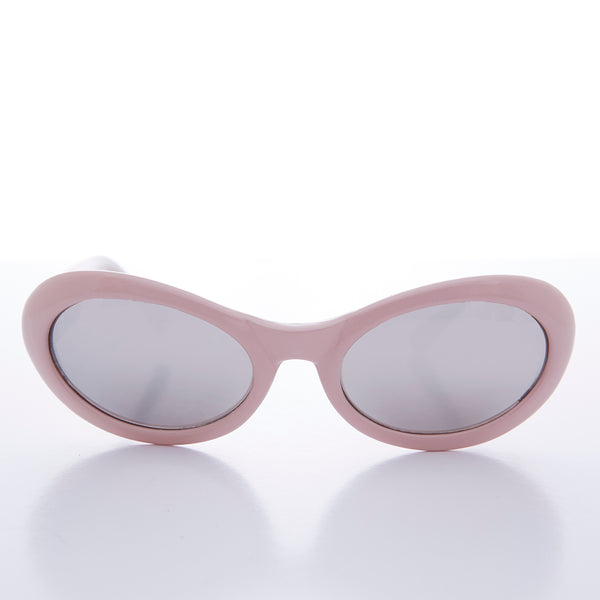 pink oval cat eye kurt cobain sunglasses