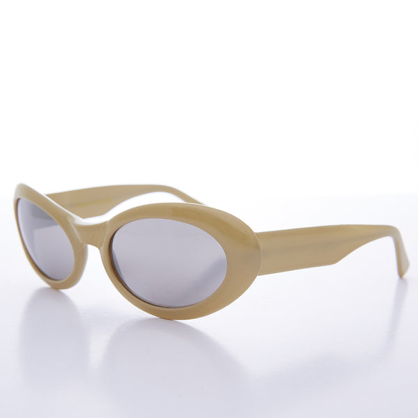 yellow oval cat eye kurt cobain sunglasses
