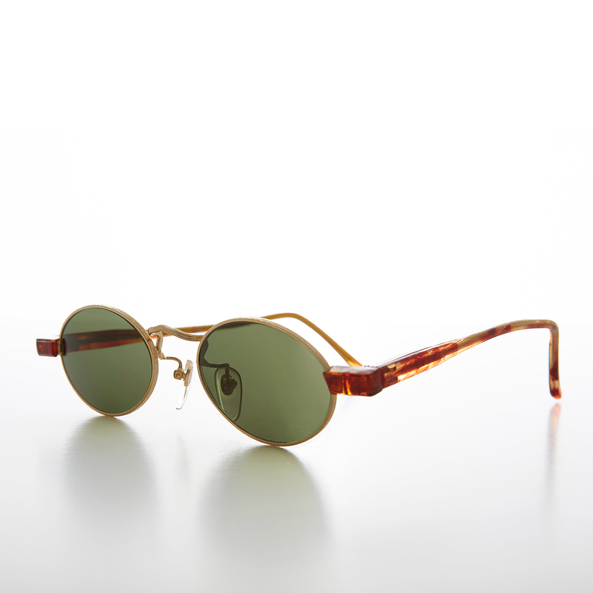 Small Oval Spectacle Style Vintage Sunglasses