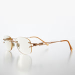 Load image into Gallery viewer, Oval Rimless Colored Lens Lightweight Reading Glasses - Leona