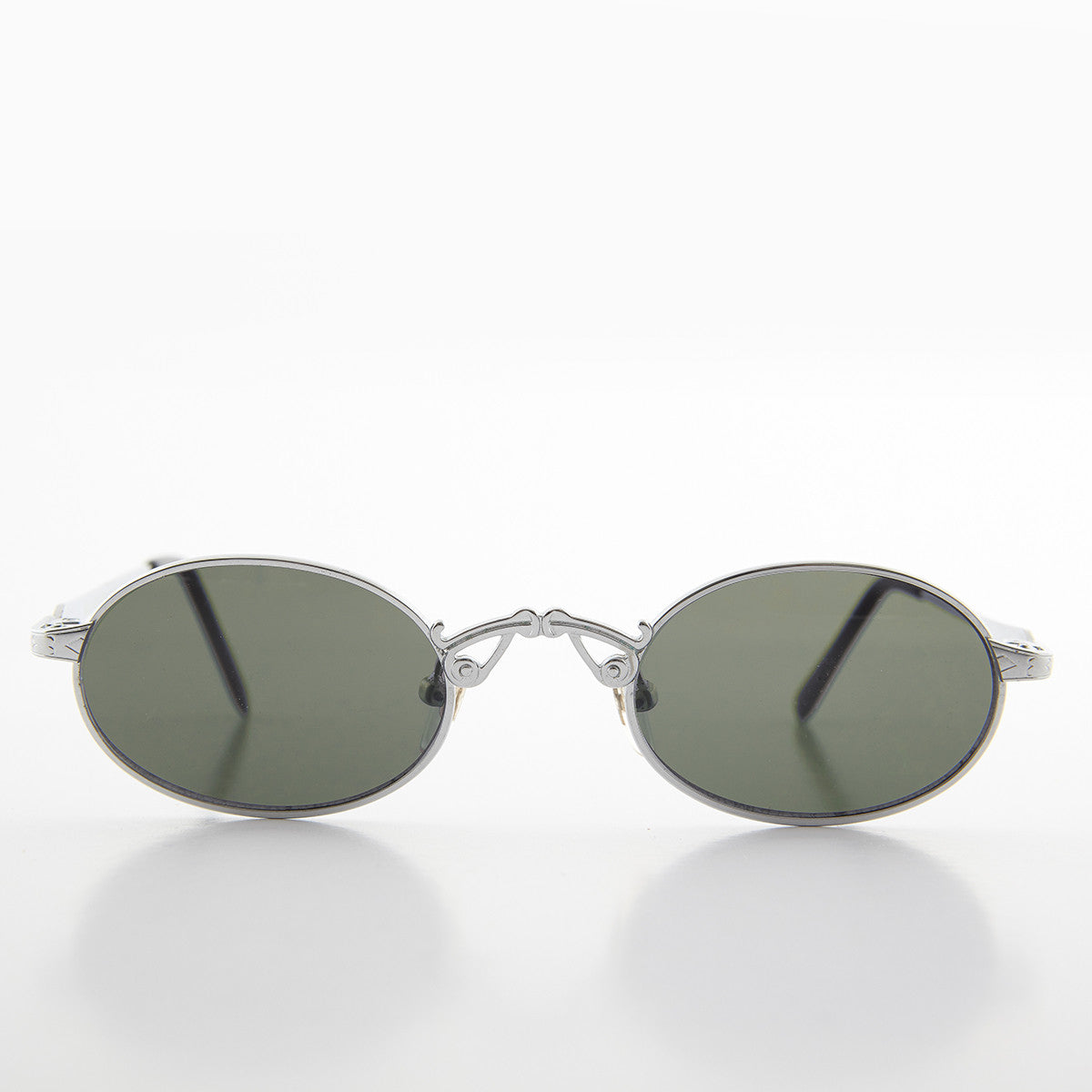 Oval Half-Eye Victorian Steampunk Metal Sunglass