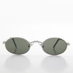 Load image into Gallery viewer, Oval Half-Eye Victorian Steampunk Metal Sunglass