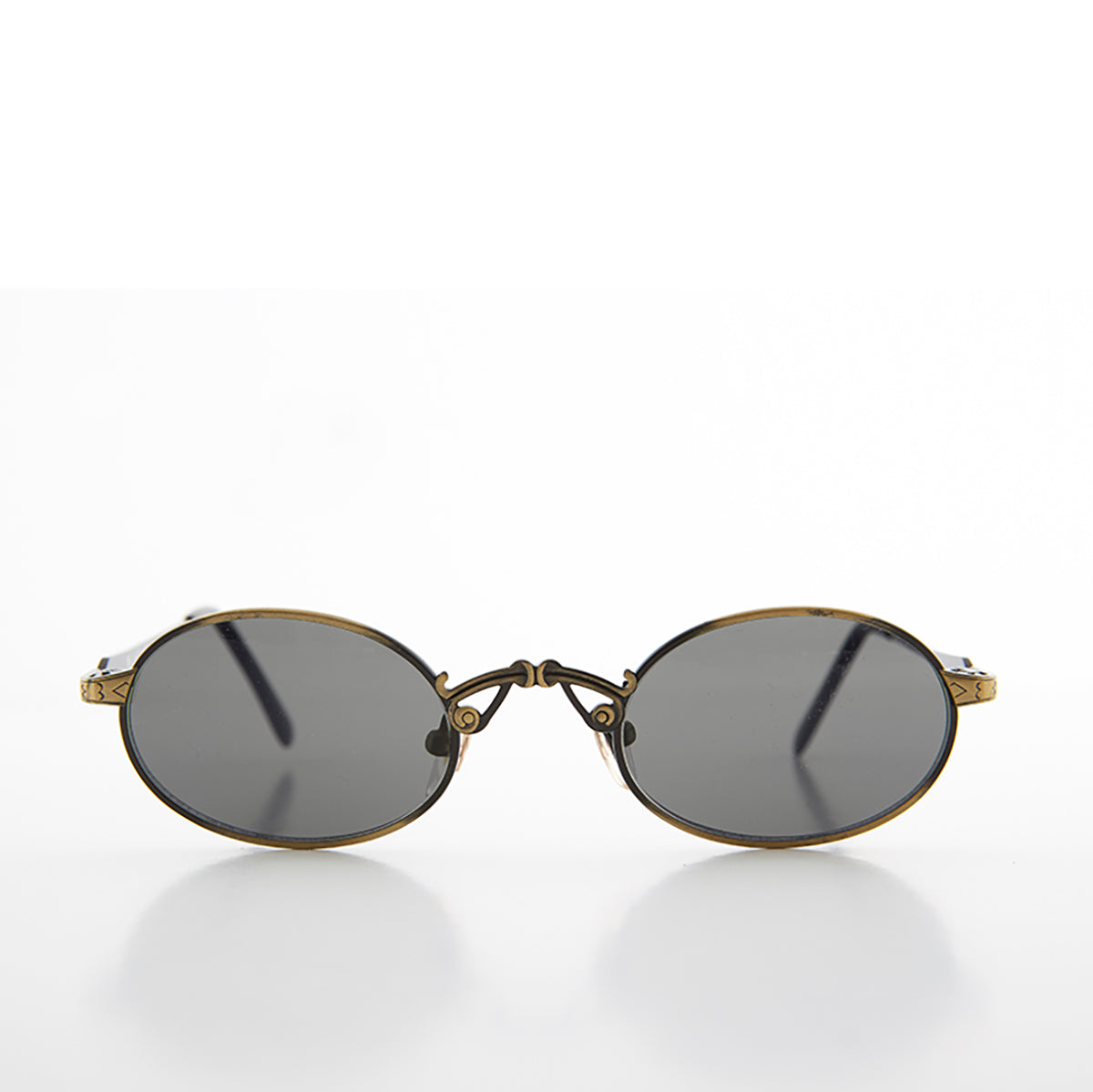 Small Oval Half-Eye Victorian Steampunk Metal Sunglass