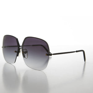 oversized women's rimless sunglass