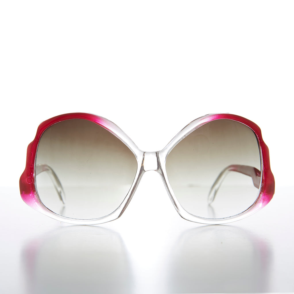 Women's Butterfly Sunglass with Upside Down Temple