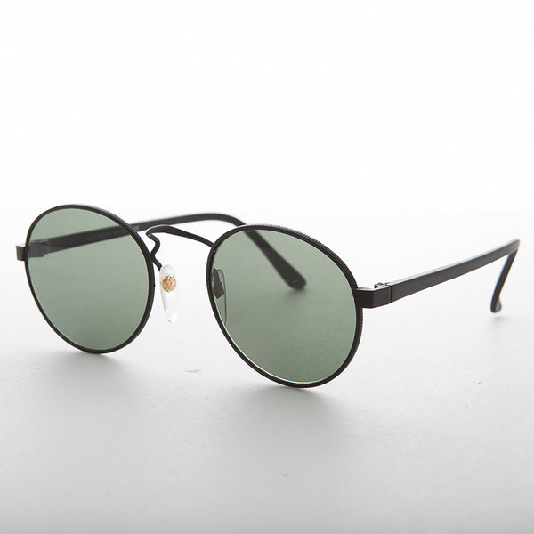 round metal combo vintage sunglass with glass lens