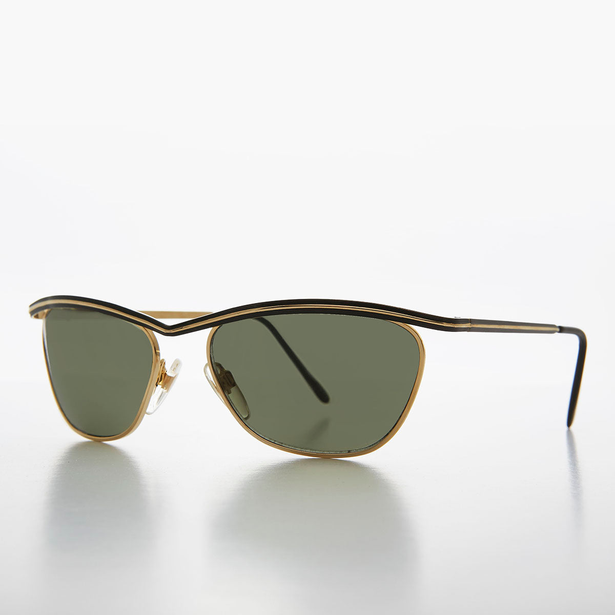 Rare Vintage Gold 1980s Stainless Steel Sunglasses