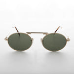 oval 1990s steampunk aviator sunglass