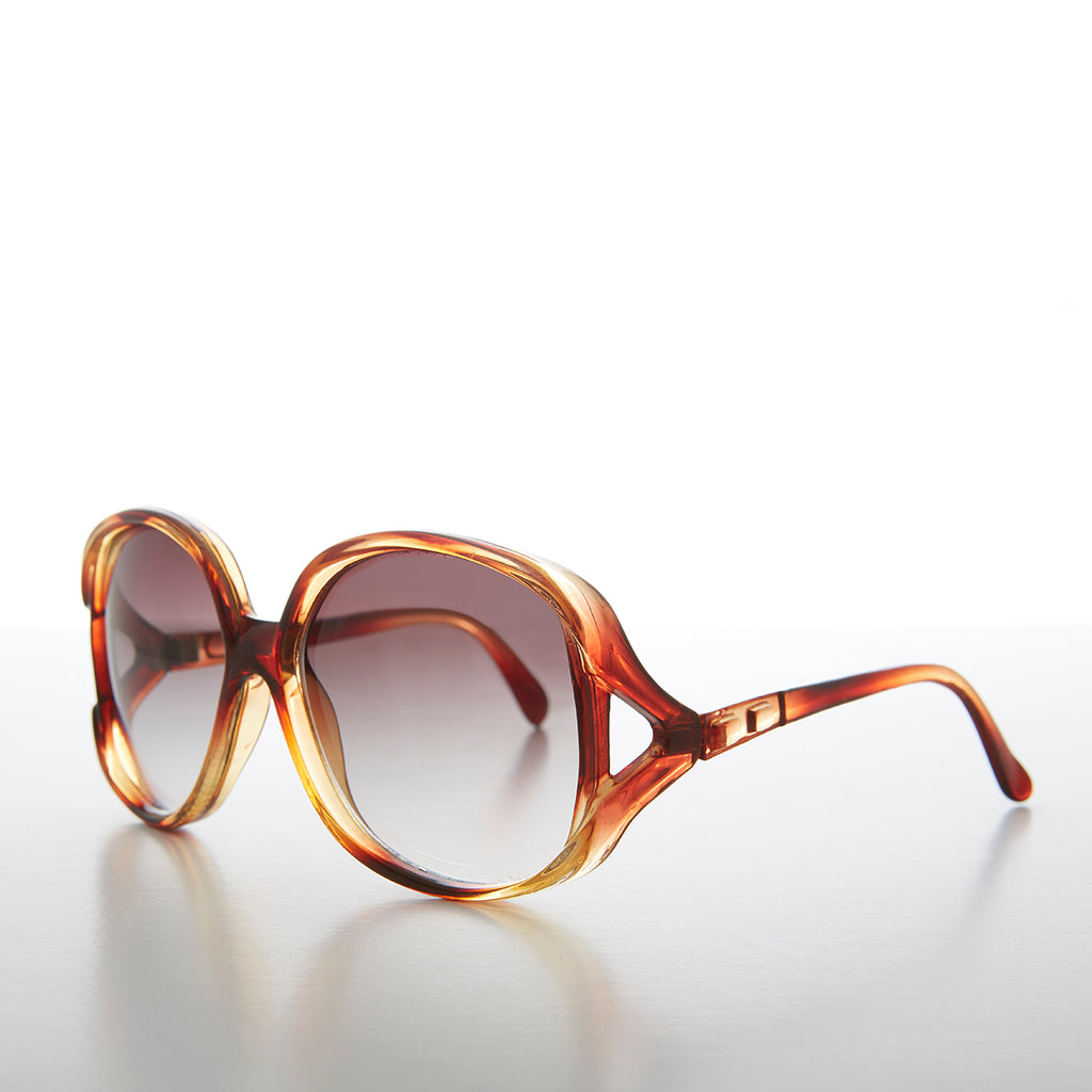 Oversized Jackie O 1980s Vintage Woman's Chic Sunglass