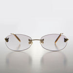Load image into Gallery viewer, Rimless Oval Tinted Colored Lens Reading Glasses