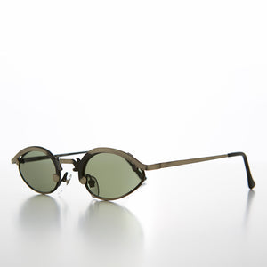 Unique Oval Metal Vintage 90s Sunglass