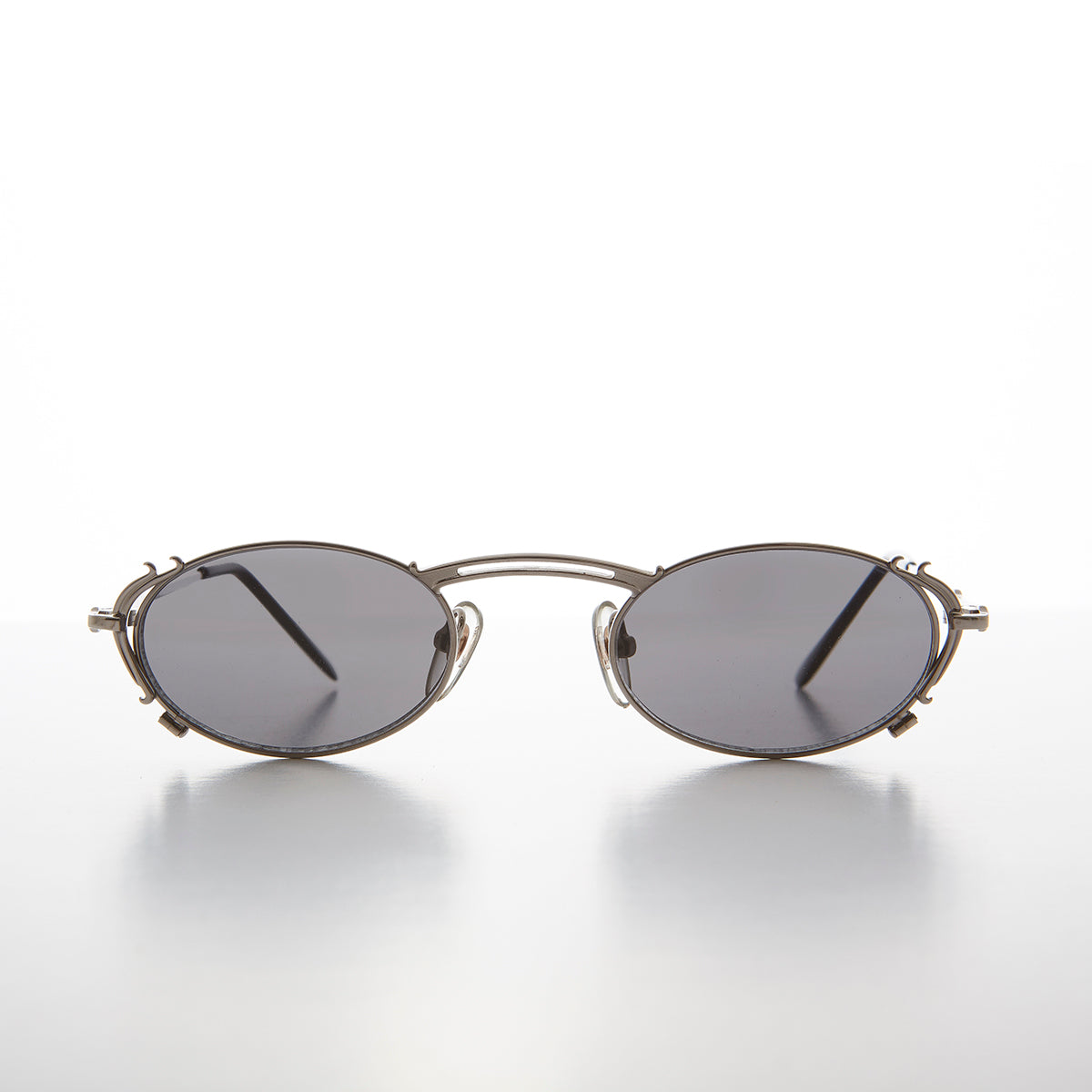 Tiny Oval Intricate Spectacles Vintage Sunglasses - Lowell