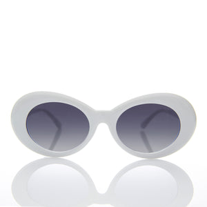 white kurt cobain cat eye sunglass