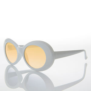 Colored Lens Kurt Cobain Oval Cat Eye Clout Sunglasses - Lulu 3