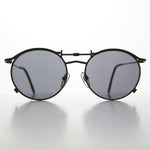 Load image into Gallery viewer, 1990s round flat lens steampunk sunglass jpg inspired