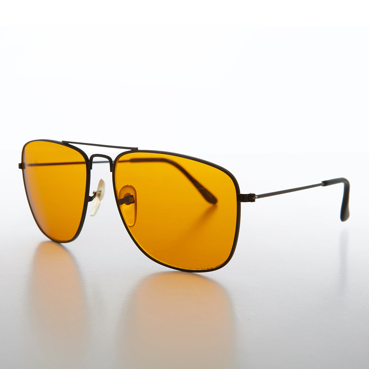 Square Aviator with Amber Blue Blocker Lens