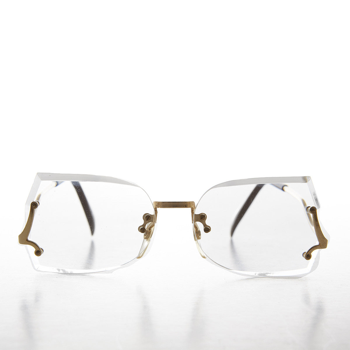 women's vintage reading glasses with upside down temples