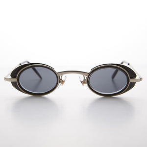 small black steampunk google vintage sunglass