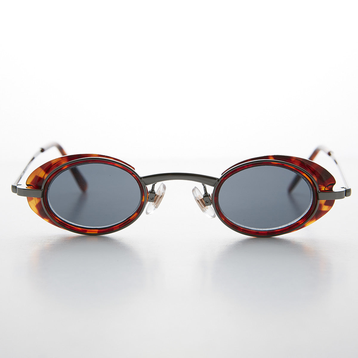 small brown steampunk google vintage sunglass