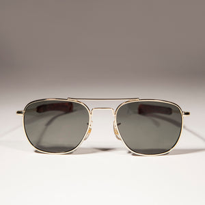 9091b10e99 Small Square Aviator Vintage Sunglass with Bayonet Temples ...