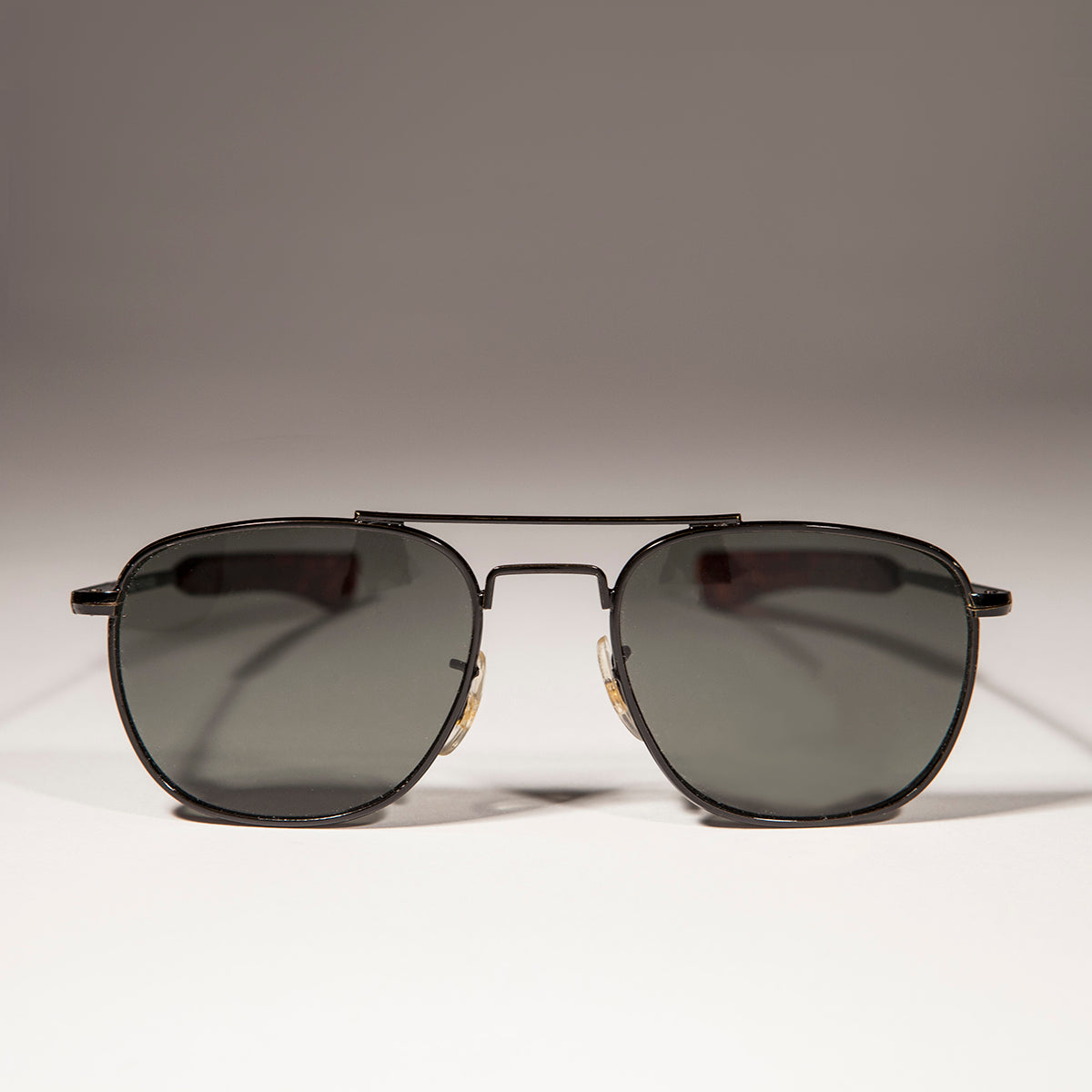 classic square black metal vintage aviator sunglass