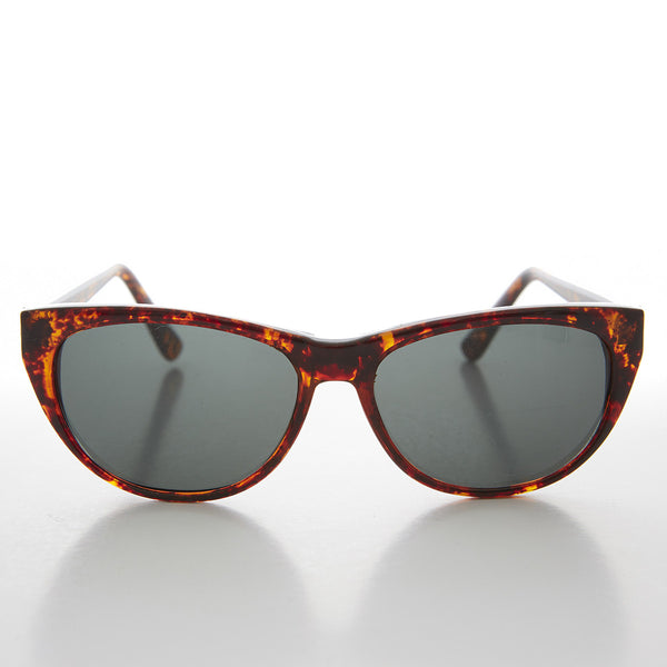 tortoise cat eye sunglass with glass lens