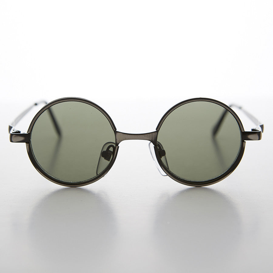 rx optical quality round steampunk 90's vintage sunglass