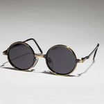 Load image into Gallery viewer, Round Metal Punk Hippie Vintage Steampunk Sunglass - Merlin 1