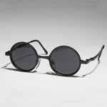 Load image into Gallery viewer, round steampunk metal sunglass